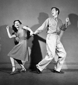 Soldier and Girl Dancing the Jitterbug